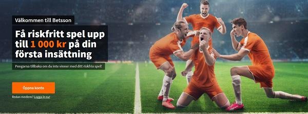 Spela med 1000 kr riskfritt spel på fotbolls VM 2018